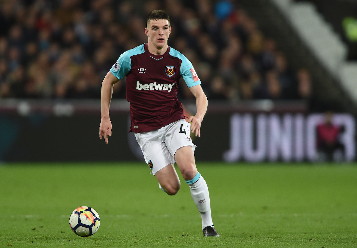 West Ham United's Declan Rice during the Premier League match at the London Stadium, Stratford Picture by Daniel Hambury/Focus Images Ltd 07813022858 16/04/2018