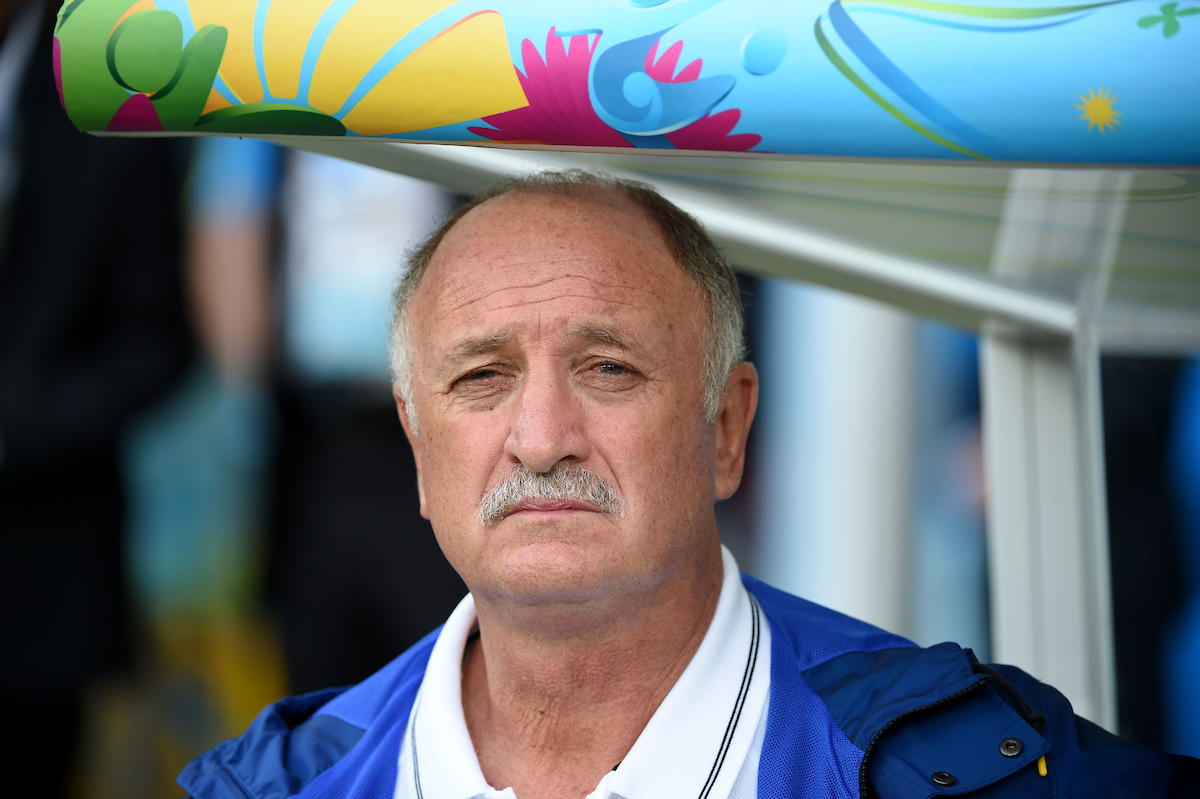 Luiz Felipe Scolari, head coach of Brazil during the 2014 FIFA World Cup match at Mineirão, Belo Horizonte Picture by Stefano Gnech/Focus Images Ltd +39 333 1641678 08/07/2014