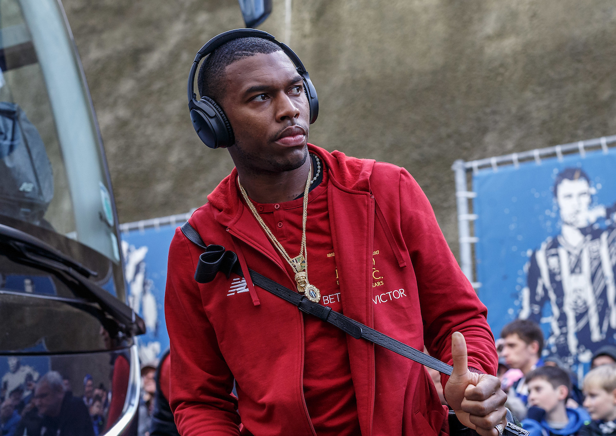 Daniel Sturridge of Liverpool arrives during the Premier League match at the American Express Community Stadium, Brighton and Hove Picture by Liam McAvoy/Focus Images Ltd 07413 543156 02/12/2017