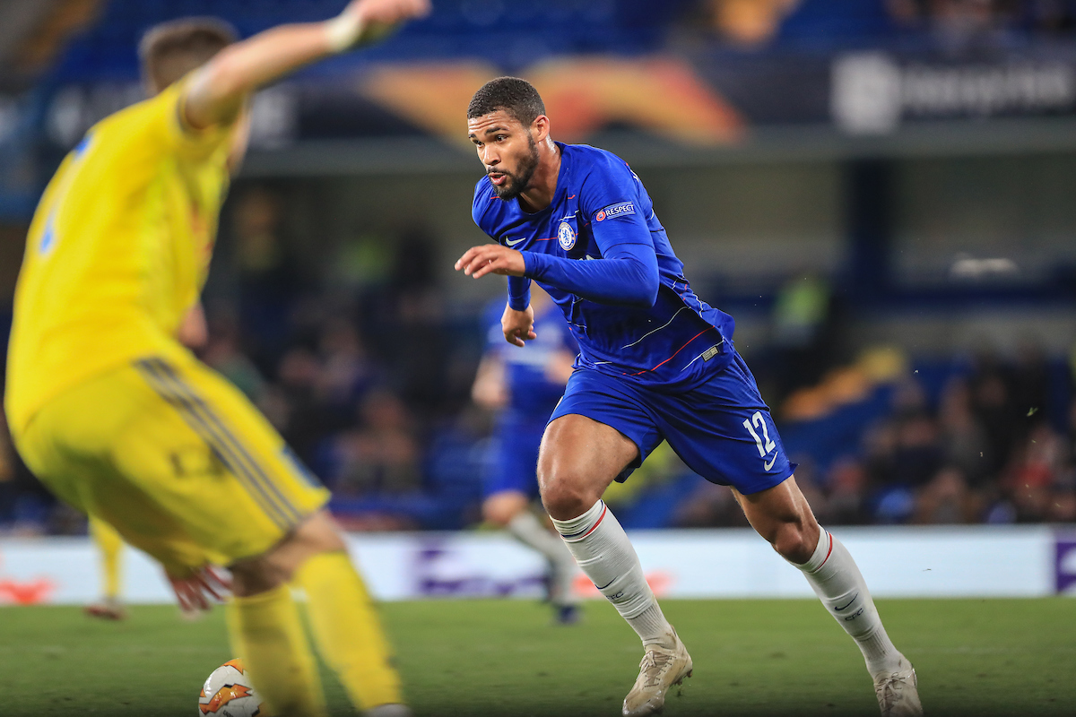 Ruben Loftus-Cheek of Chelsea in action during the match against FC BATE Borisov for the UEFA Europa League match at Stamford Bridge, London Picture by Romena Fogliati/Focus Images Ltd 07576143919 25/10/2018