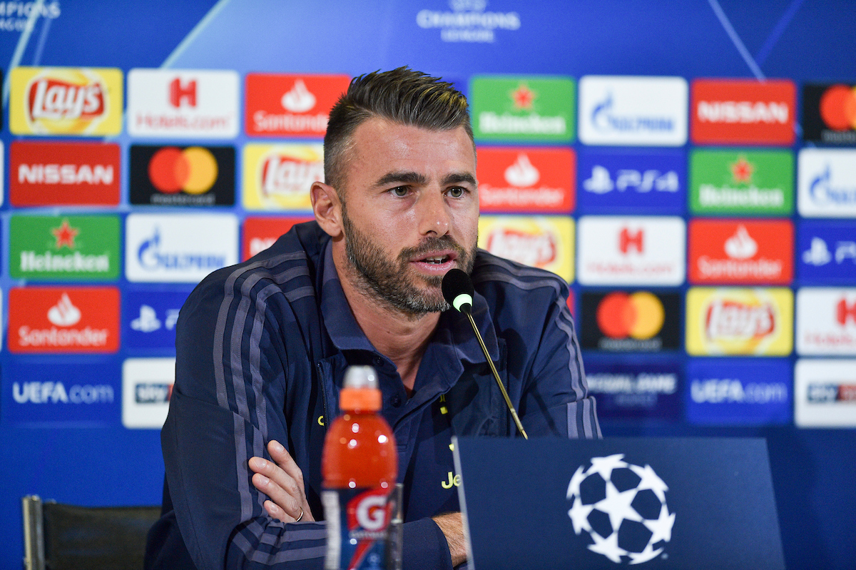 Andrea Barzagli during the Juventus press conference at Juventus Stadium, Turin Picture by Antonio Polia/Focus Images Ltd +393473147935 01/10/2018