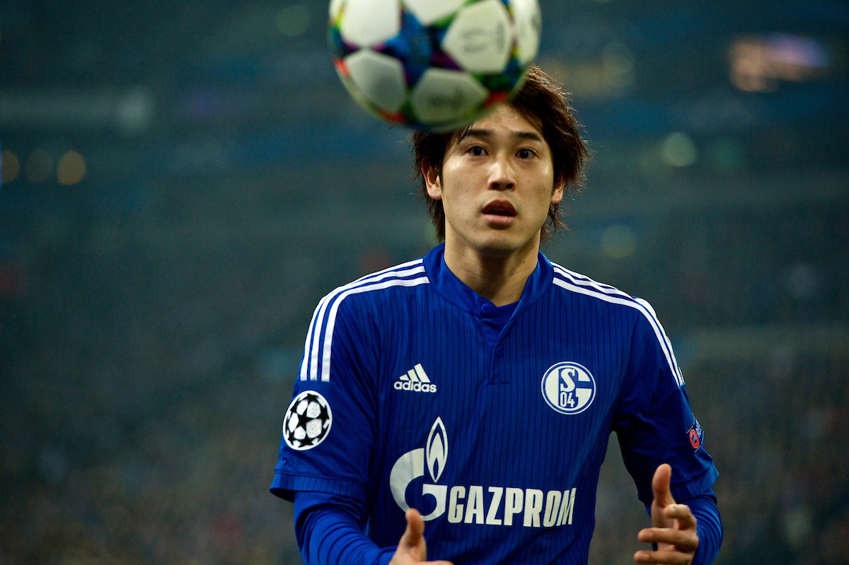 Atsuto Uchida of FC Schalke 04 during the UEFA Champions League match at Veltins-Arena, Gelsenkirchen Picture by Ian Wadkins/Focus Images Ltd +44 7877 568959 18/02/2015