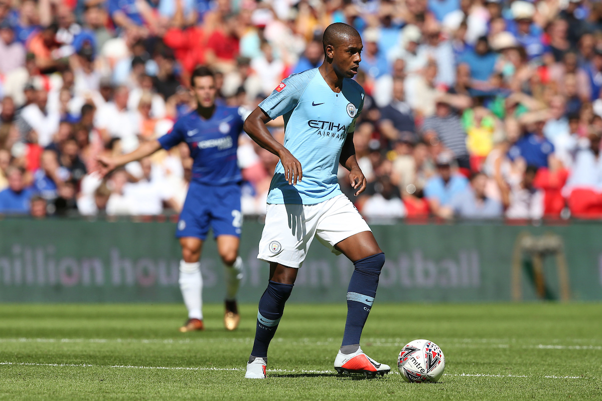 Fernandinho of Manchester City in action during the FA Community Shield match at Wembley Stadium, London Picture by Paul Chesterton/Focus Images Ltd +44 7904 640267 05/08/2018