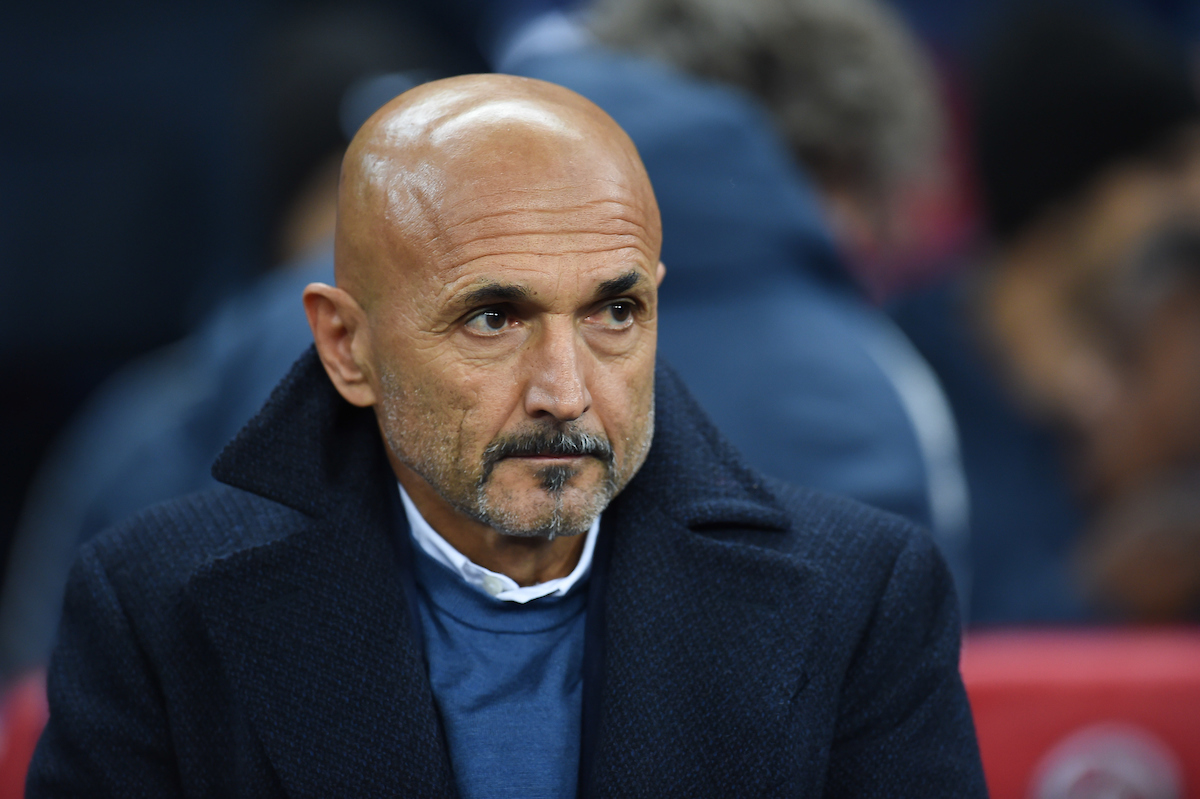 Inter Milan Head Coach Luciano Spalletti during the UEFA Champions League match at Wembley Stadium, London Picture by Martyn Haworth/Focus Images Ltd 07463250714 28/11/2018