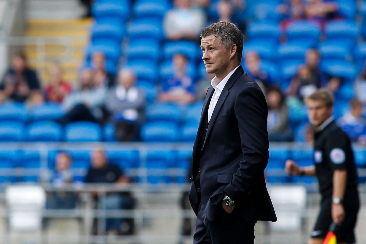 Ole Gunnar Solskjaer of Cardiff City during the Sky Bet Championship match at the Cardiff City Stadium, Cardiff Picture by Mike  Griffiths/Focus Images Ltd +44 7766 223933 13/09/2014