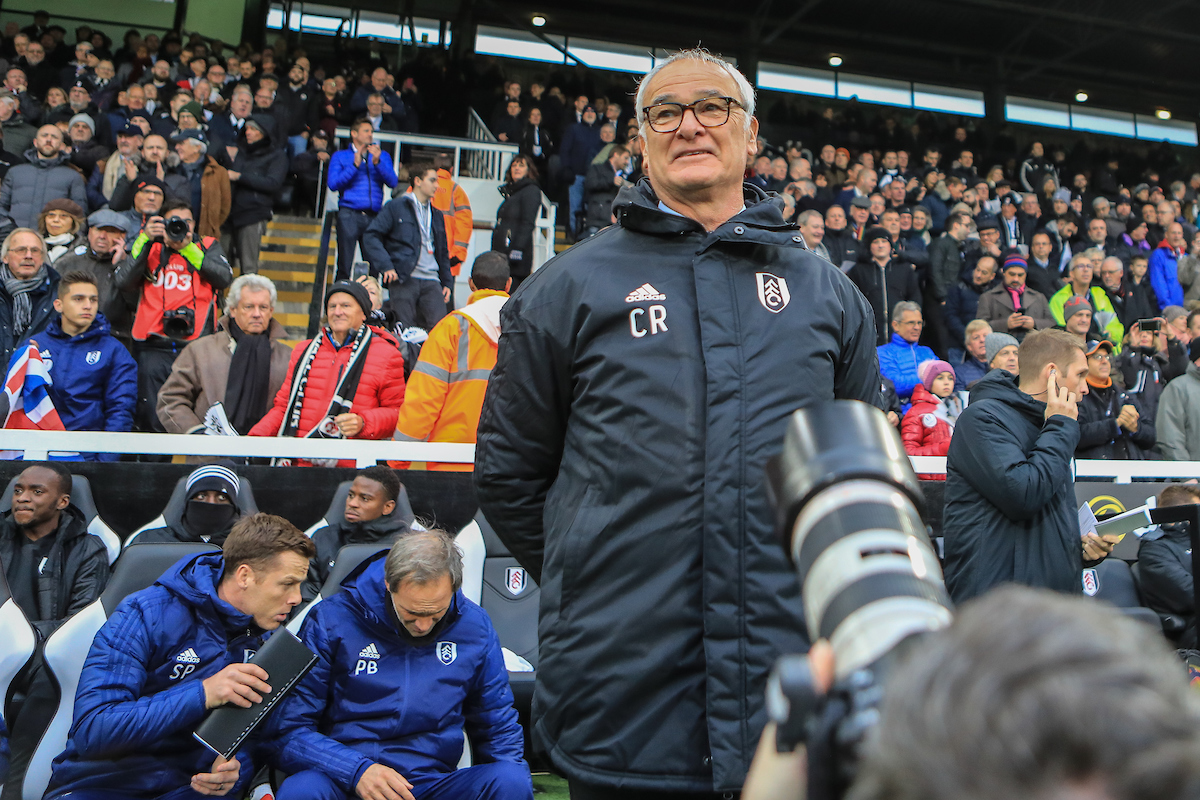 Claudio Ranieri manager of Fulham before the Premier League match at Craven Cottage, London Picture by Romena Fogliati/Focus Images Ltd 07576143919 24/11/2018