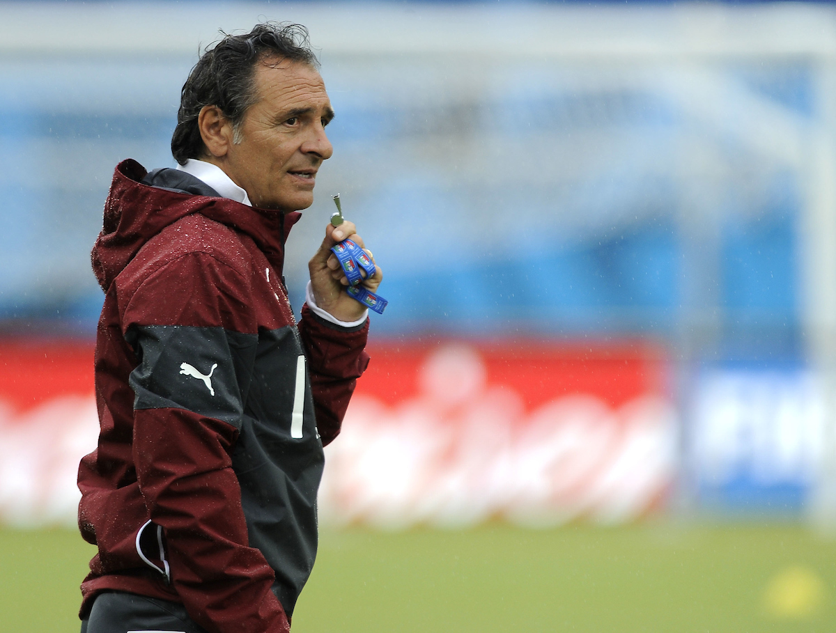 Italy head coach Cesare Prandelli during training at Arena das Dunas, Natal Picture by Stefano Gnech/Focus Images Ltd +39 333 1641678 23/06/2014