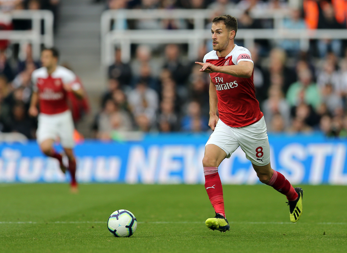 Aaron Ramsey of Arsenal during the Premier League match at St. James's Park, Newcastle Picture by Simon Moore/Focus Images Ltd 07807 671782 15/09/2018