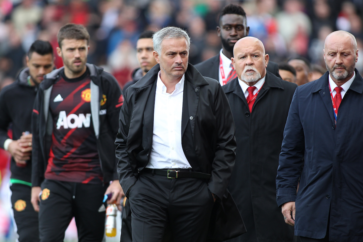 Jose Mourinho manager of Manchester United walks into the stadium prior to the Premier League match against Stoke City at the Bet 365 Stadium, Stoke-on-Trent. Picture by Michael Sedgwick/Focus Images Ltd +44 7900 363072 09/09/2017