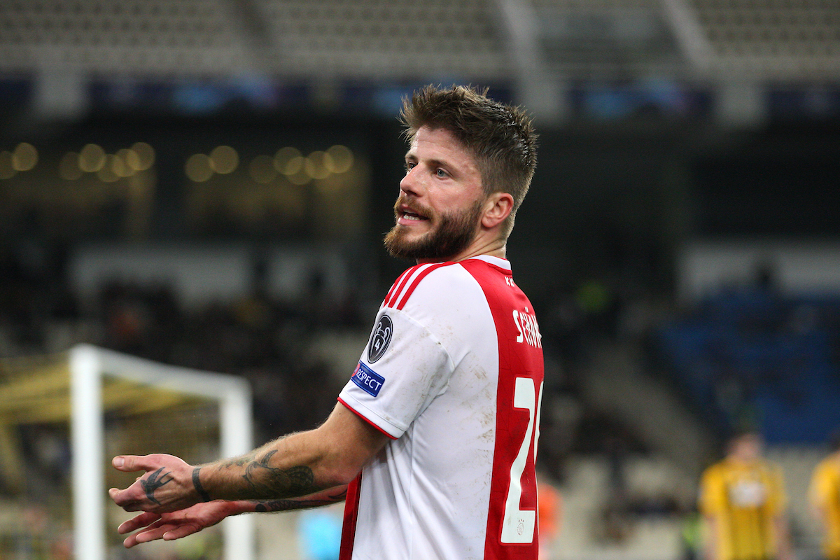 Lasse Schone of Ajax Amsterdam reacts during the UEFA Champions League match at Olympic Stadium, Athens Picture by Yannis Halas/Focus Images Ltd +353 8725 82019 27/11/2018