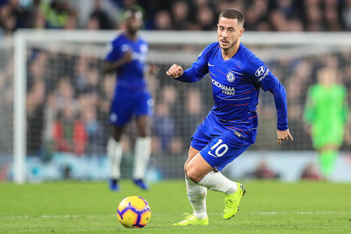 Eden Hazard of Chelsea during the Premier League match at Stamford Bridge, London Picture by Romena Fogliati/Focus Images Ltd 07576143919 08/12/2018