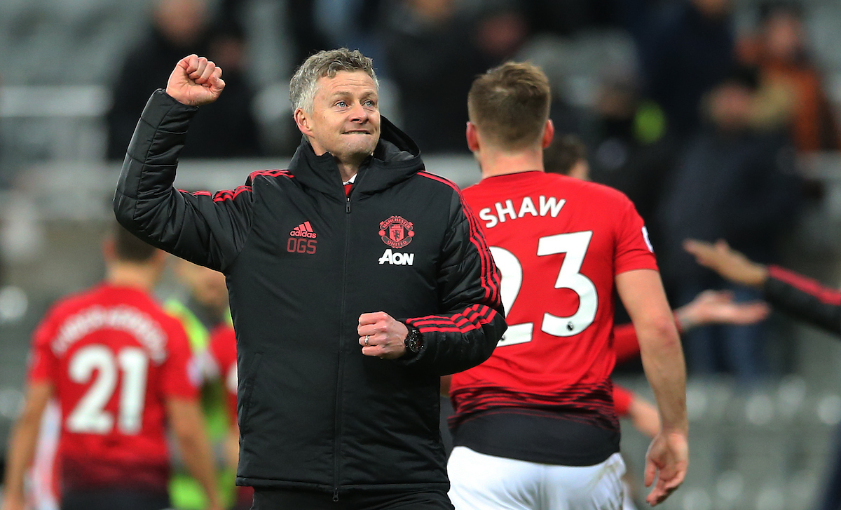 Manchester United caretaker manager Ole Gunnar Solskjaer after the Premier League match at St. James's Park, Newcastle Picture by Simon Moore/Focus Images Ltd 07807 671782 02/01/2019