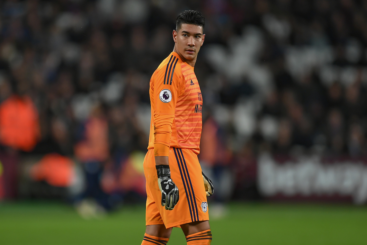 Cardiff City Goalkeeper Neil Etheridge during the Premier League match at the London Stadium, Stratford Picture by Martyn Haworth/Focus Images Ltd 07463250714 04/12/2018