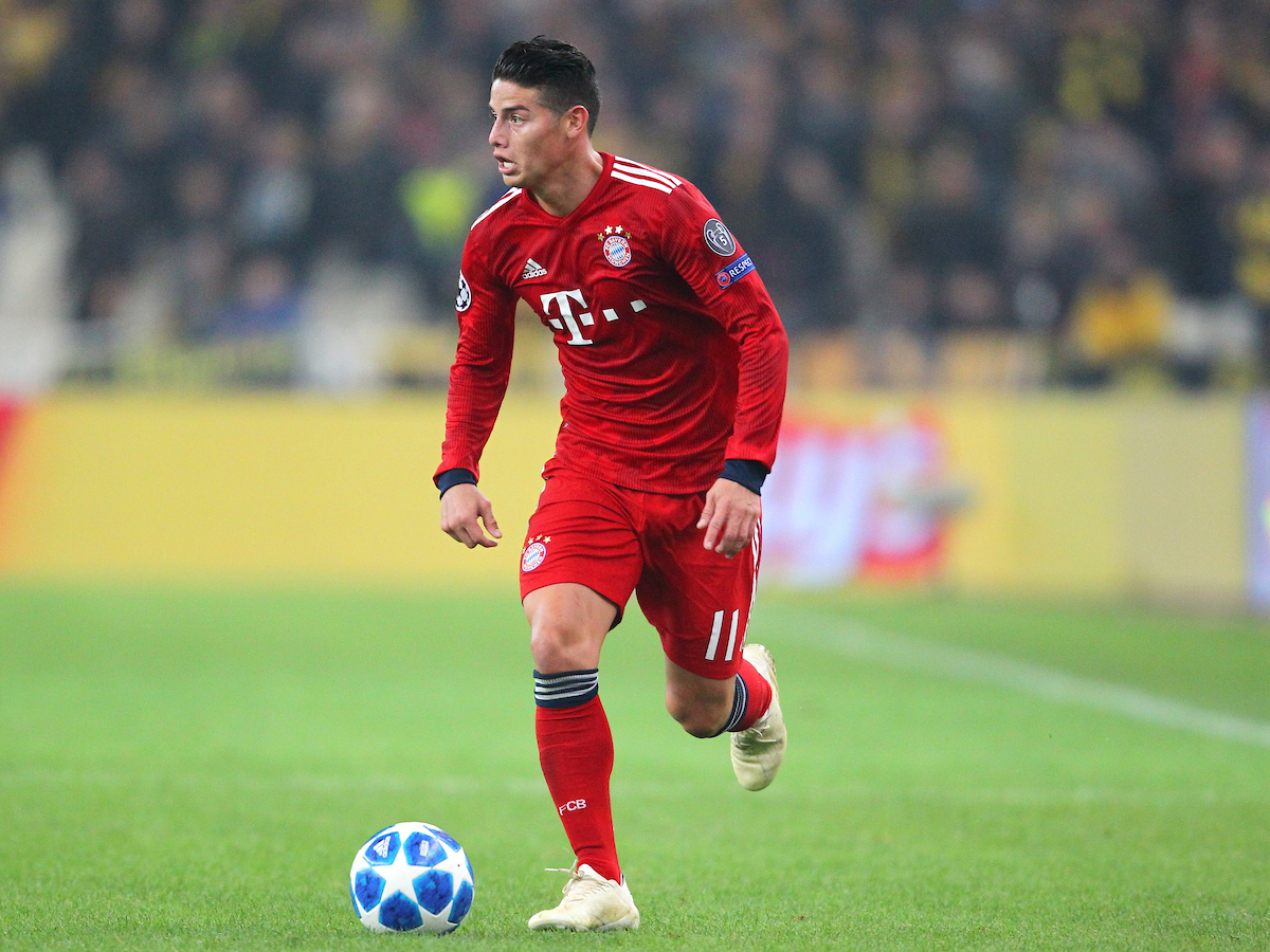 James Rodriguez of Bayern Munich during the UEFA Champions League match at Olympic Stadium, Athens Picture by Yannis Halas/Focus Images Ltd +353 8725 82019 23/10/2018