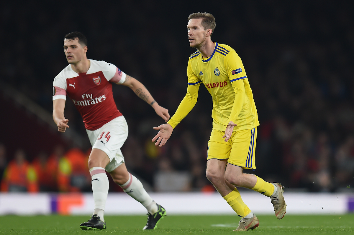 Alexander Hleb of BATE Borisov during the UEFA Europa League match at the Emirates Stadium, London Picture by Martyn Haworth/Focus Images Ltd 07463250714 21/02/2019