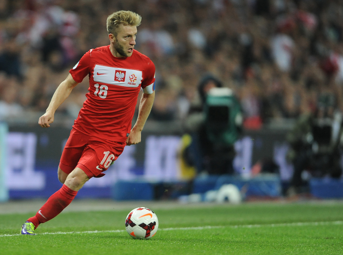 Picture by Daniel Hambury/Focus Images Ltd +44 7813 022858 15/10/2013 Jakub Blaszczykowski of Poland during the 2014 FIFA World Cup Qualifying match at Wembley Stadium, London.