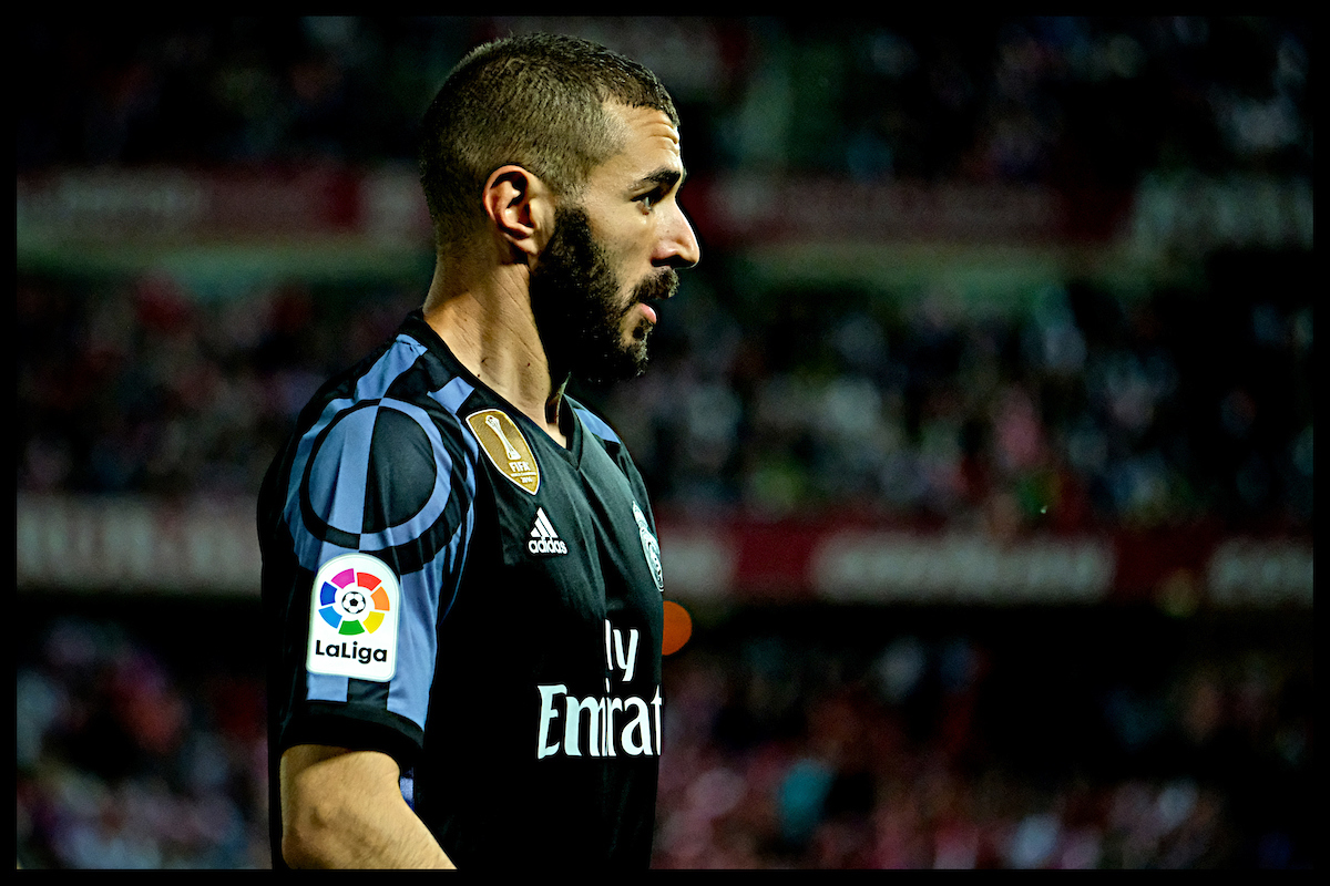 Karim Benzema of Real Madrid during the La Liga match at Estadio Nuevo Los Cármenes, Granada Picture by Kristian Kane/Focus Images Ltd +44 7814 482222 06/05/2017
