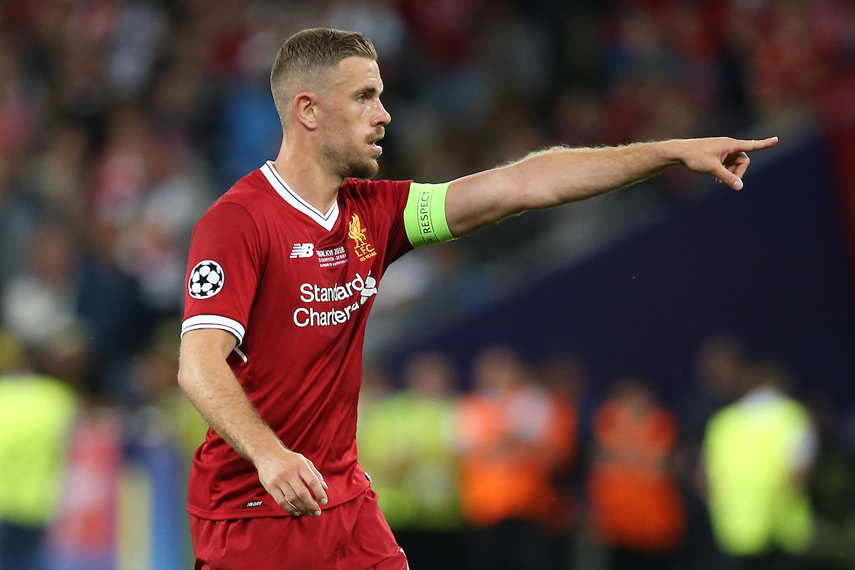 Jordan Henderson of Liverpool during the UEFA Champions League Final at the Olympic Stadium, Kiev Picture by Paul Chesterton/Focus Images Ltd +44 7904 640267 26/05/2018