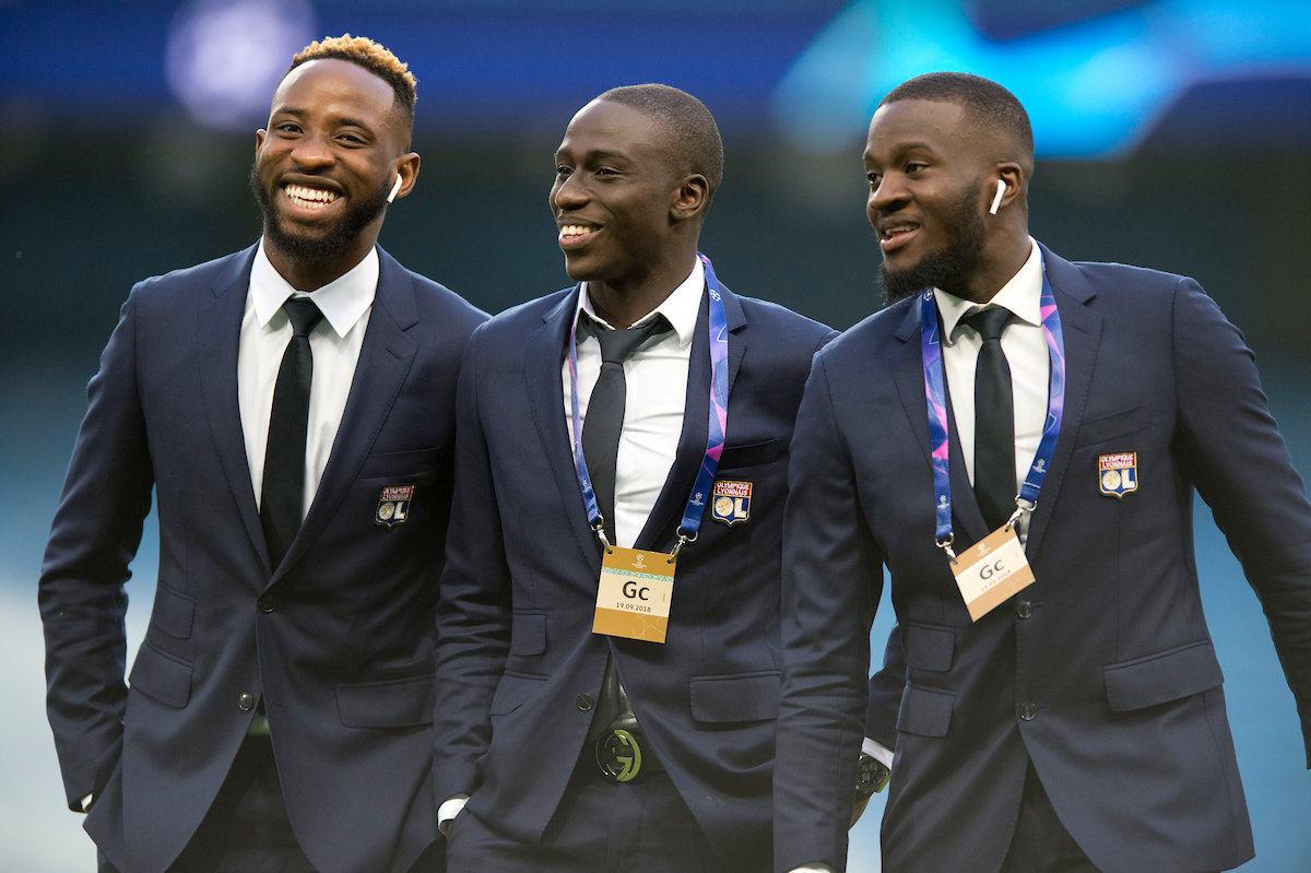Lyon players look in relaxed mood before the UEFA Champions League match at the Etihad Stadium, Manchester Picture by Russell Hart/Focus Images Ltd 07791 688 420 19/09/2018