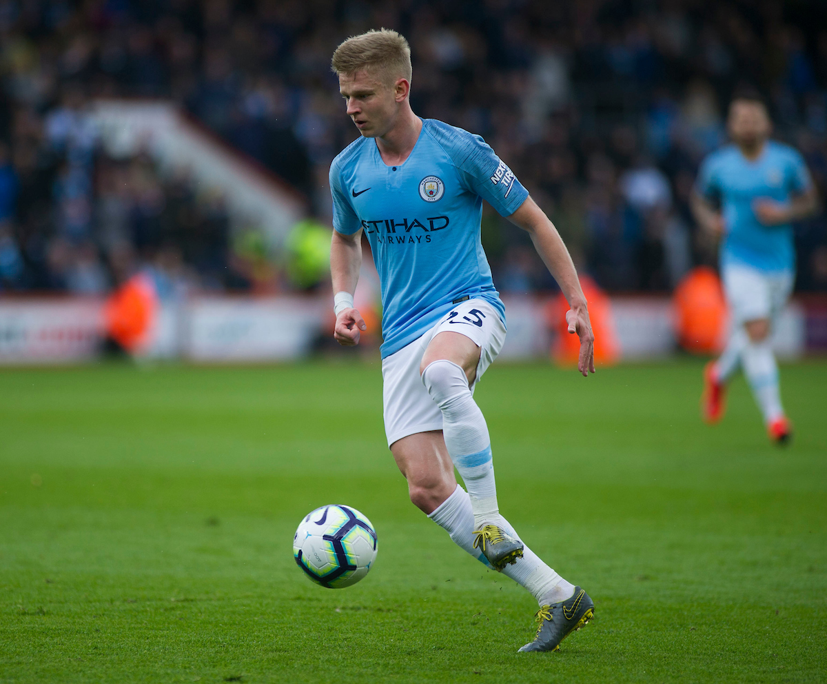 Oleksandr Zinchenko of Manchester City during the Premier League match at the Vitality Stadium, Bournemouth Picture by Daniel Murphy/Focus Images Ltd 07432 188161 02/03/2019