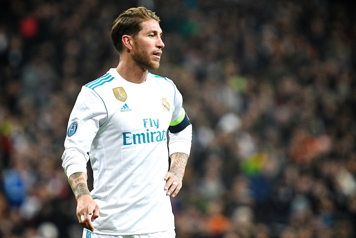Sergio Ramos of Real Madrid during the UEFA Champions League match at the Estadio Santiago Bernabeu, Madrid Picture by Kristian Kane/Focus Images Ltd +44 7814 482222 06/12/2017