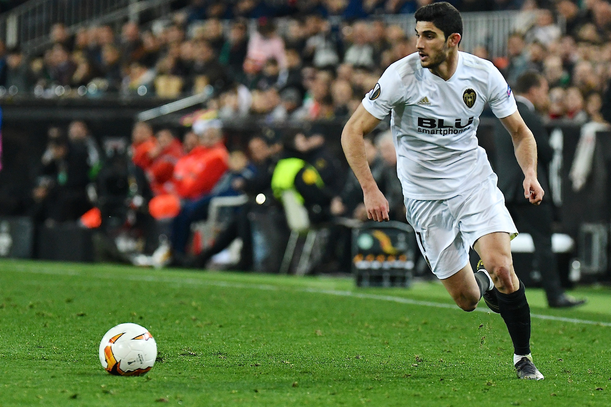 Gonçalo Guedes of Valencia CF during the UEFA Europa League match at Mestalla, Valencia Picture by Kristian Kane/Focus Images Ltd +44 7814 482222 19/02/2019