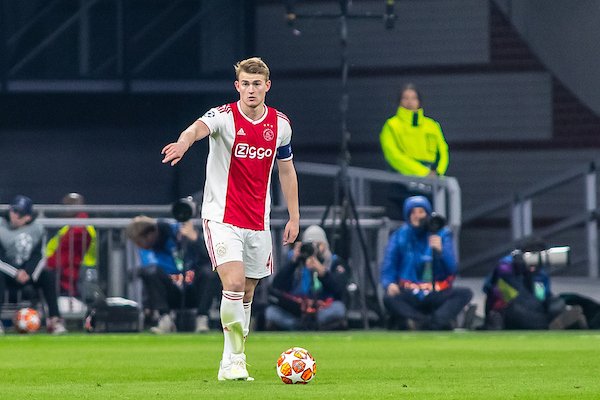Matthijs de Ligt of Ajax Amsterdam during the first leg of the UEFA Champions League quarter-final match at Amsterdam Arena, Amsterdam Picture by Sjoerd Tullenaar/Focus Images Ltd +31655744888 10/04/2019