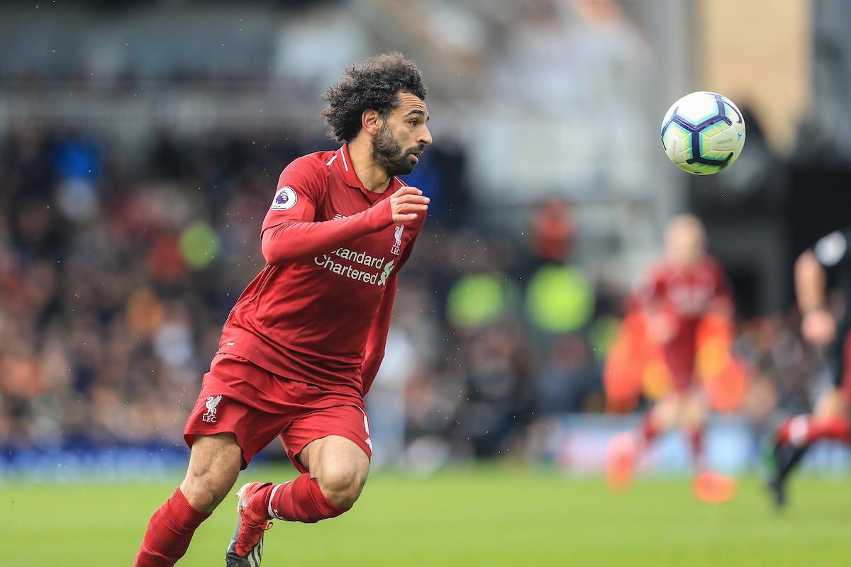 Mohamed Salah of Liverpool during the Premier League match at Craven Cottage, London Picture by Romena Fogliati/Focus Images Ltd 07576143919 17/03/2019