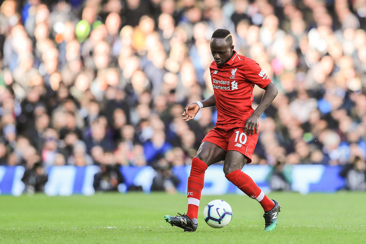 Sadio Mane of Liverpool during the Premier League match at Craven Cottage, London Picture by Romena Fogliati/Focus Images Ltd 07576143919 17/03/2019