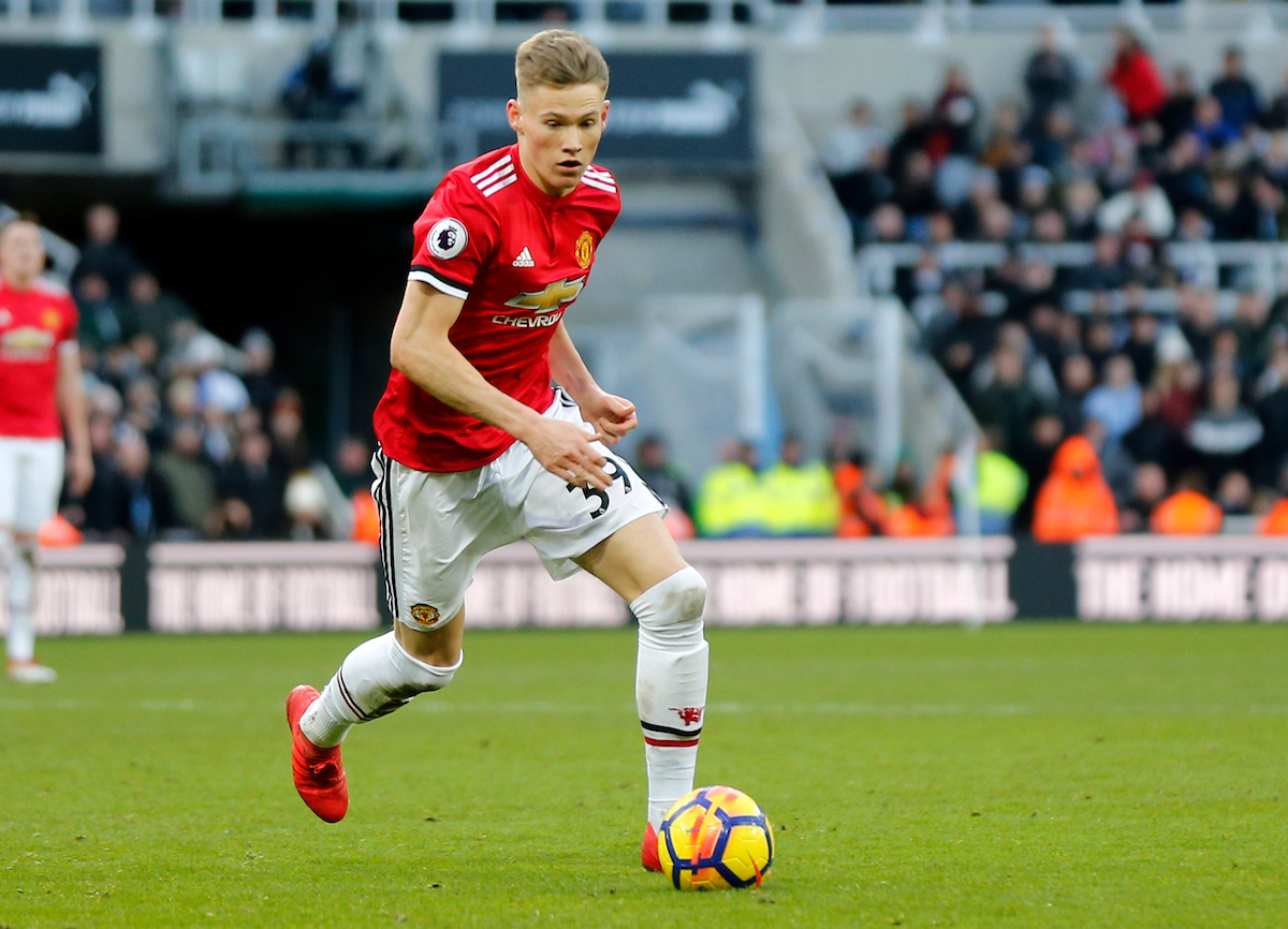 Scott McTominay of Manchester United during the Premier League match at St. James's Park, Newcastle Picture by Simon Moore/Focus Images Ltd 07807 671782 11/02/2018