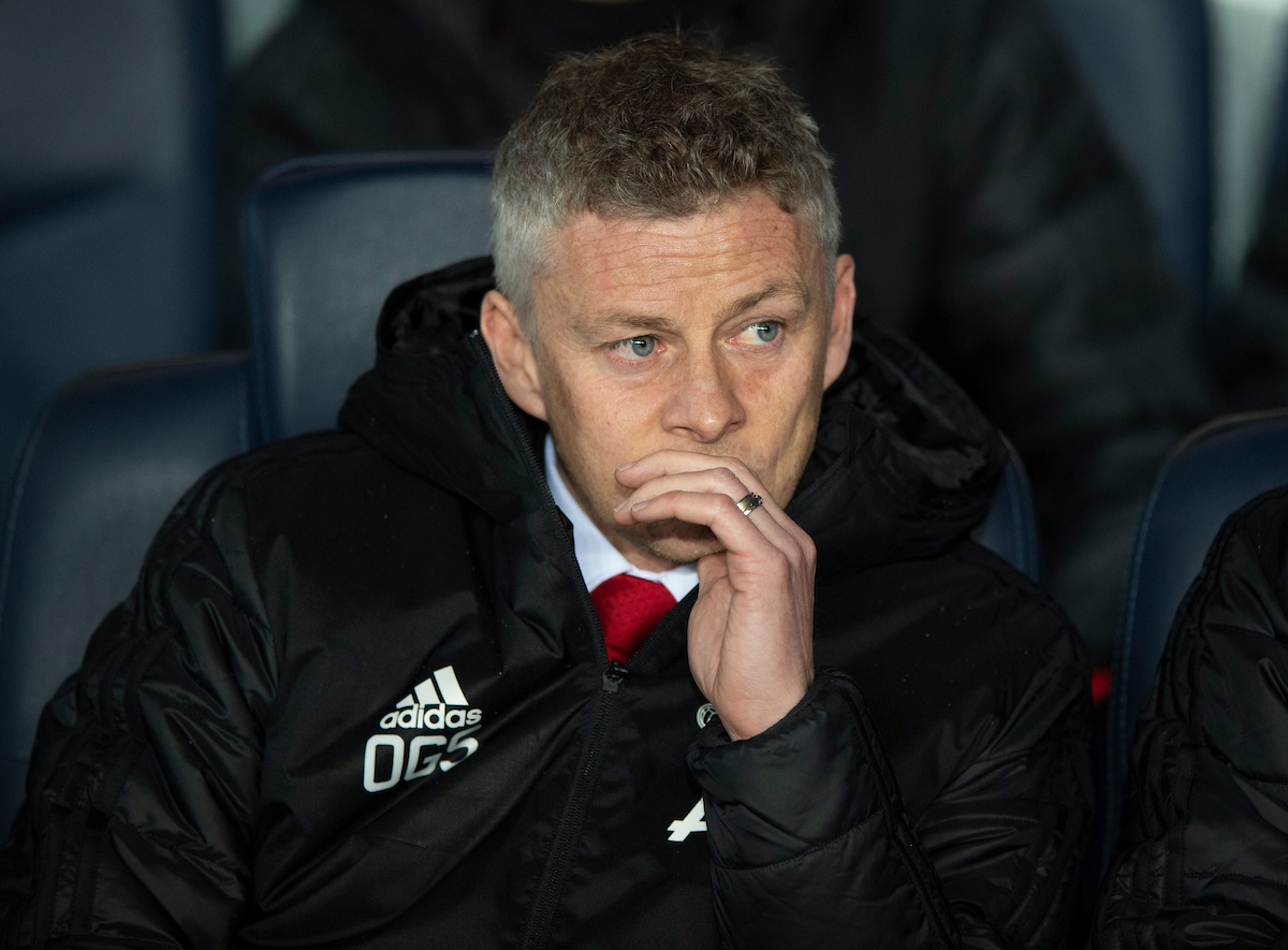 Manchester United manager Ole Gunnar Solskjaer looks in thought before the UEFA Champions League match at Parc des Princes, Paris Picture by Russell Hart/Focus Images Ltd 07791 688 420 06/03/2019