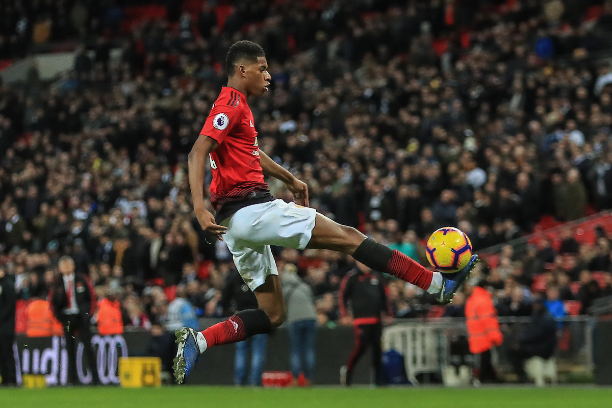 Marcus Rashford of Manchester United during the Premier League match at Wembley Stadium, London Picture by Romena Fogliati/Focus Images Ltd 07576143919 13/01/2019