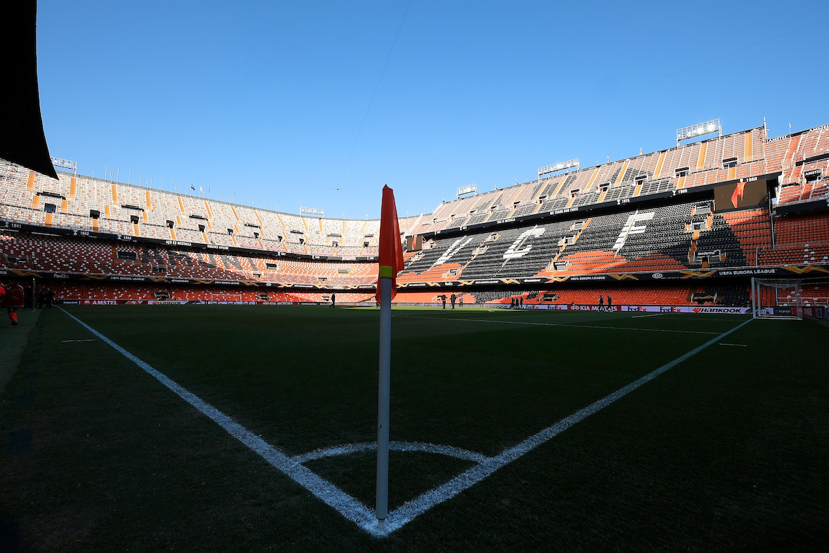 General view of the stadium pictured ahead of the UEFA Europa League match at Mestalla, Valencia Picture by Kristian Kane/Focus Images Ltd +44 7814 482222 19/02/2019