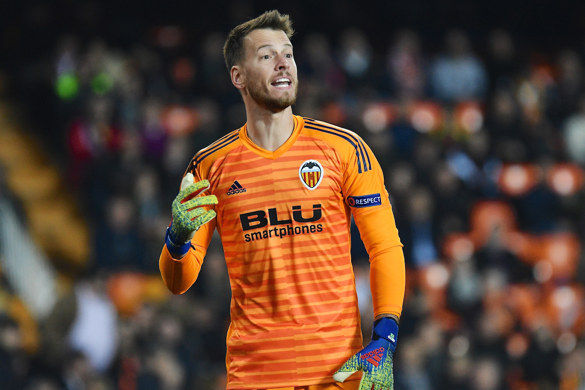 Valencia CF goalkeeper Neto during the UEFA Europa League match at Mestalla, Valencia Picture by Kristian Kane/Focus Images Ltd +44 7814 482222 19/02/2019