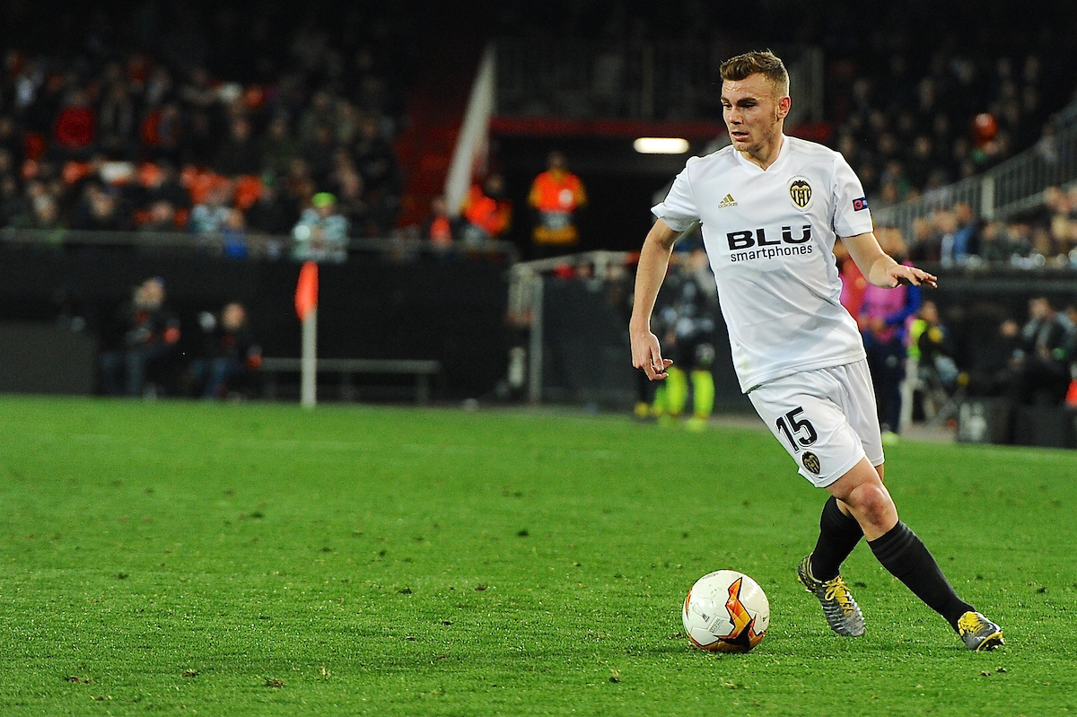 Toni Lato of Valencia CF during the UEFA Europa League match at Mestalla, Valencia Picture by Kristian Kane/Focus Images Ltd +44 7814 482222 19/02/2019