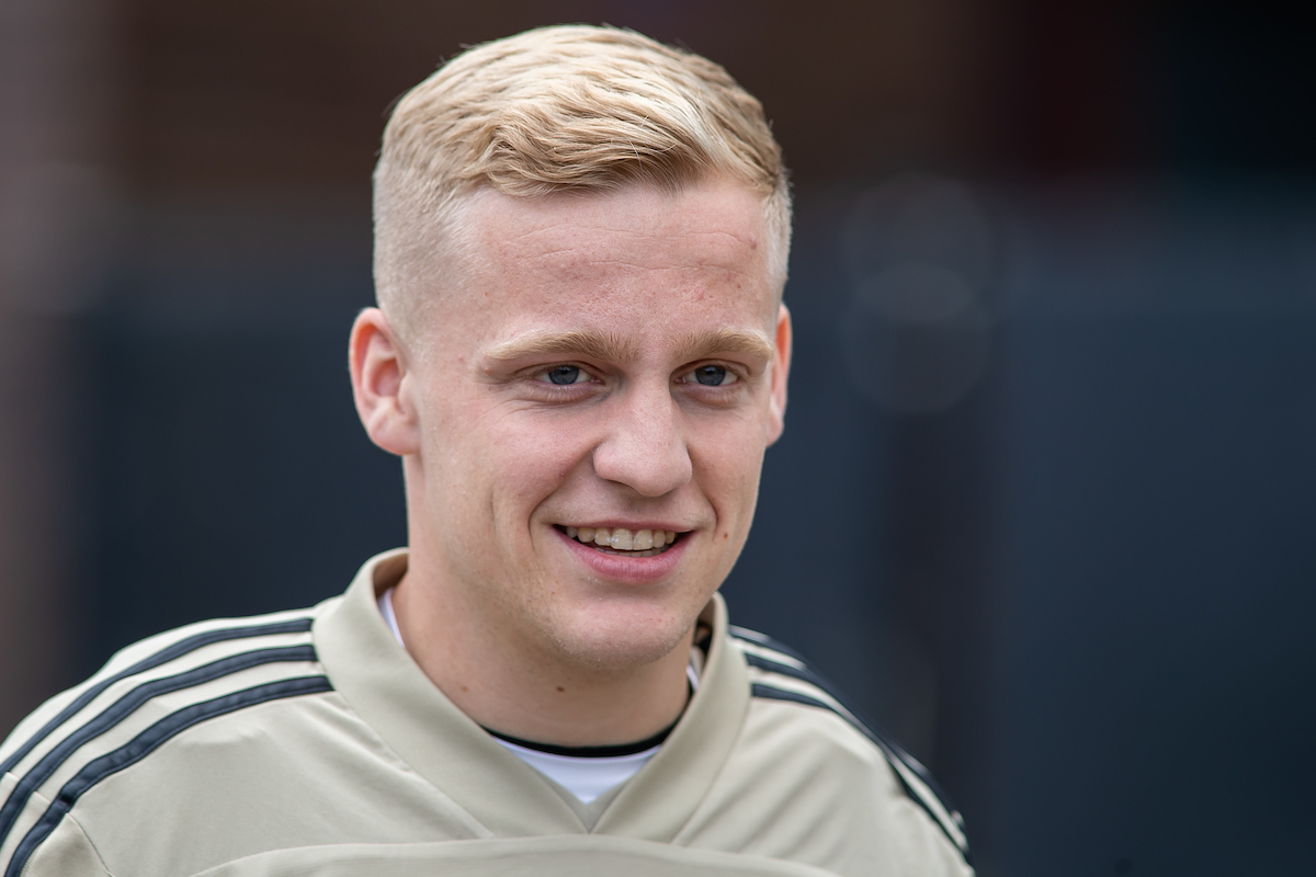 Donny van de Beek during the Ajax Amsterdam Training Session at Amsterdam Arena, Amsterdam Picture by Sjoerd Tullenaar/Focus Images Ltd +31655744888 07/05/2019