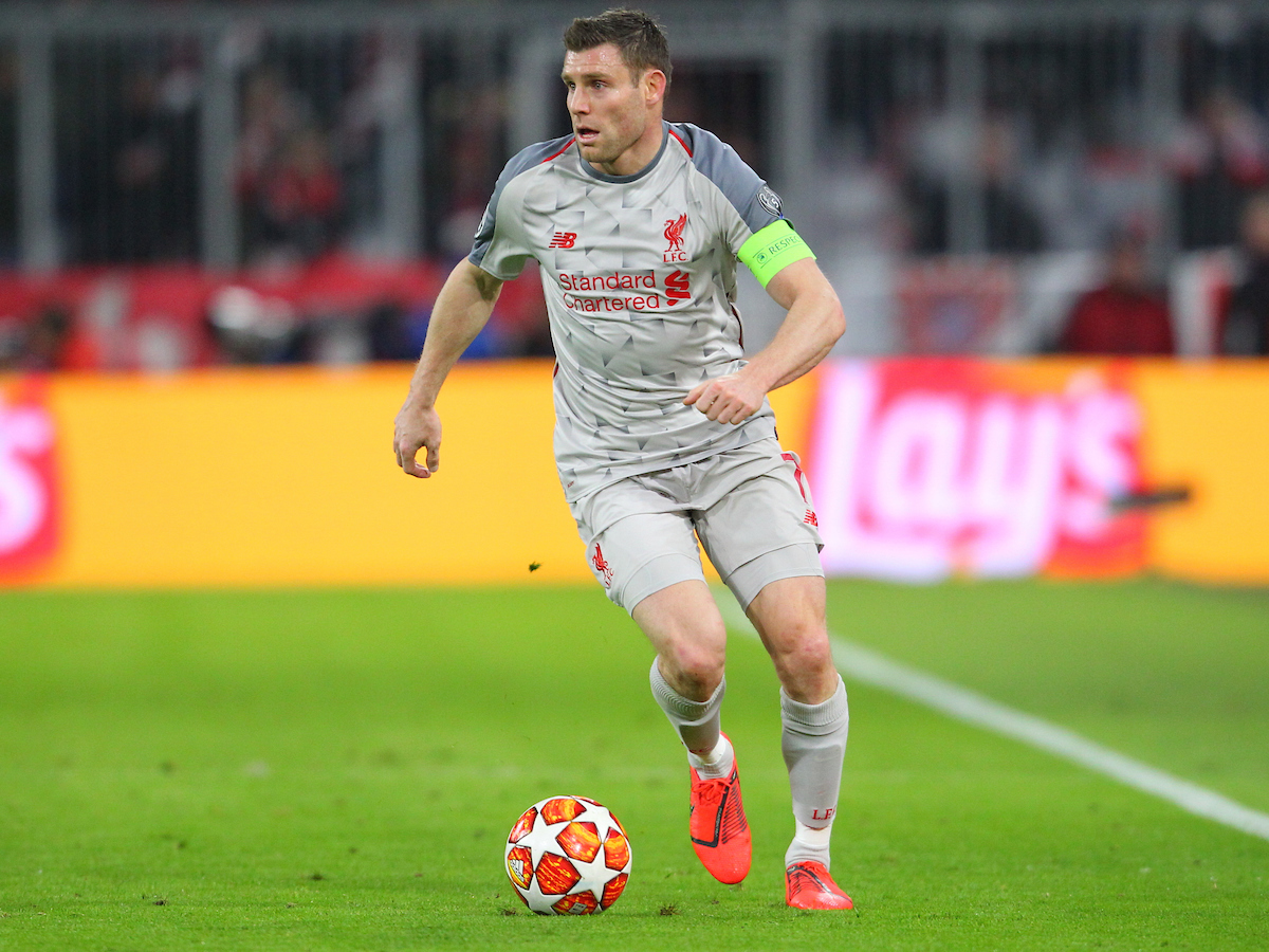 James Milner of Liverpool during the UEFA Champions League match at Allianz Arena, Munich Picture by Yannis Halas/Focus Images Ltd +353 8725 82019 13/03/2019