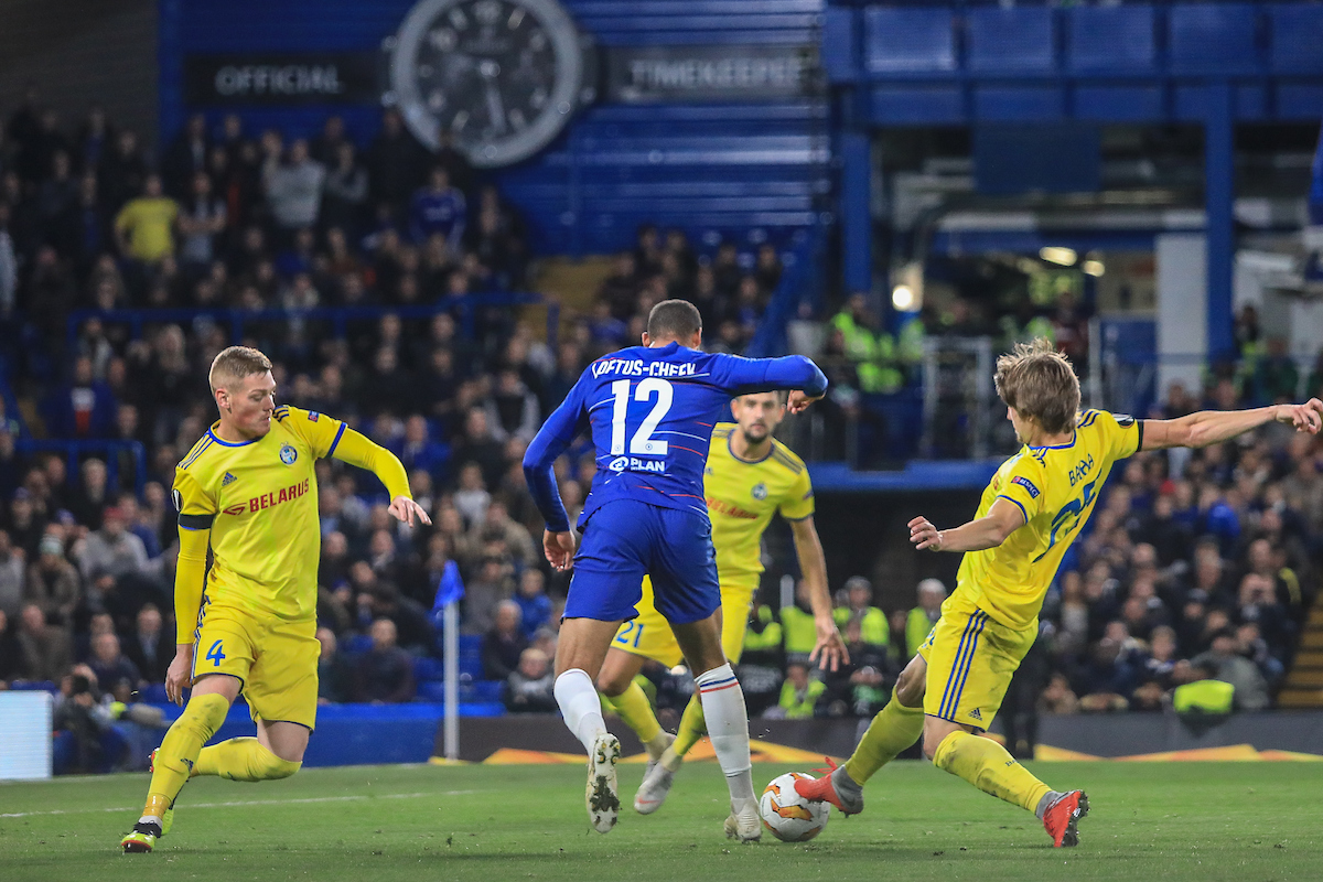 Ruben Loftus-Cheek of Chelsea, who scored three goals, in action against FC BATE Borisov during the UEFA Europa League match at Stamford Bridge, London Picture by Romena Fogliati/Focus Images Ltd 07576143919 25/10/2018
