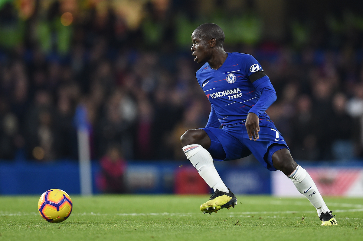 N'Golo Kanté of Chelsea during the Premier League match at Stamford Bridge, London Picture by Martyn Haworth/Focus Images Ltd 07463250714 04/11/2018
