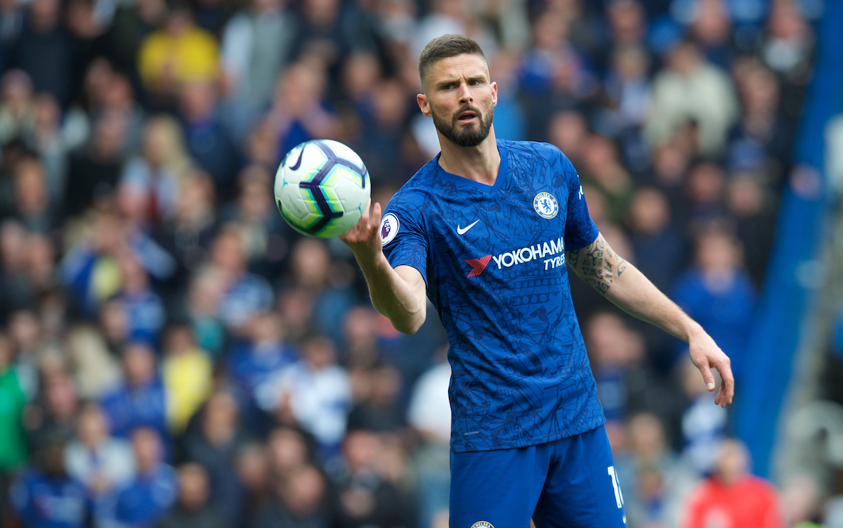 Olivier Giroud of Chelsea during the Premier League match at Stamford Bridge, London Picture by Alan Stanford/Focus Images Ltd +44 7915 056117 05/05/2019