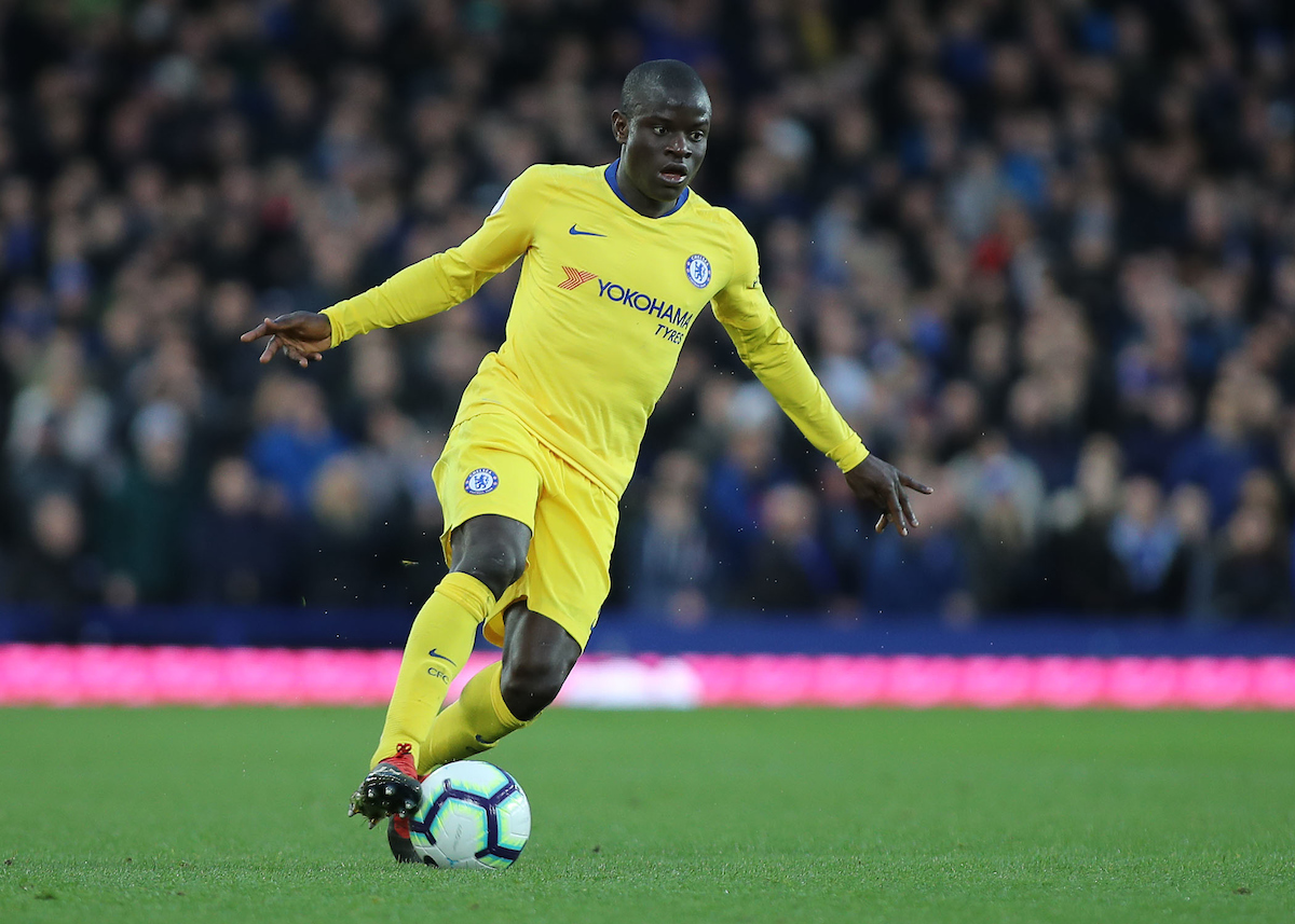 Ngolo Kante of Chelsea in action against Everton during the Premier League match at Goodison Park, Liverpool. Picture by Michael Sedgwick/Focus Images Ltd +44 7900 363072 17/03/2019