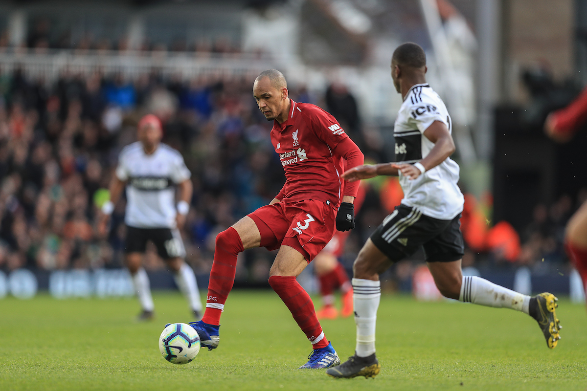 Fabinho of Liverpool during the Premier League match at Craven Cottage, London Picture by Romena Fogliati/Focus Images Ltd 07576143919 17/03/2019