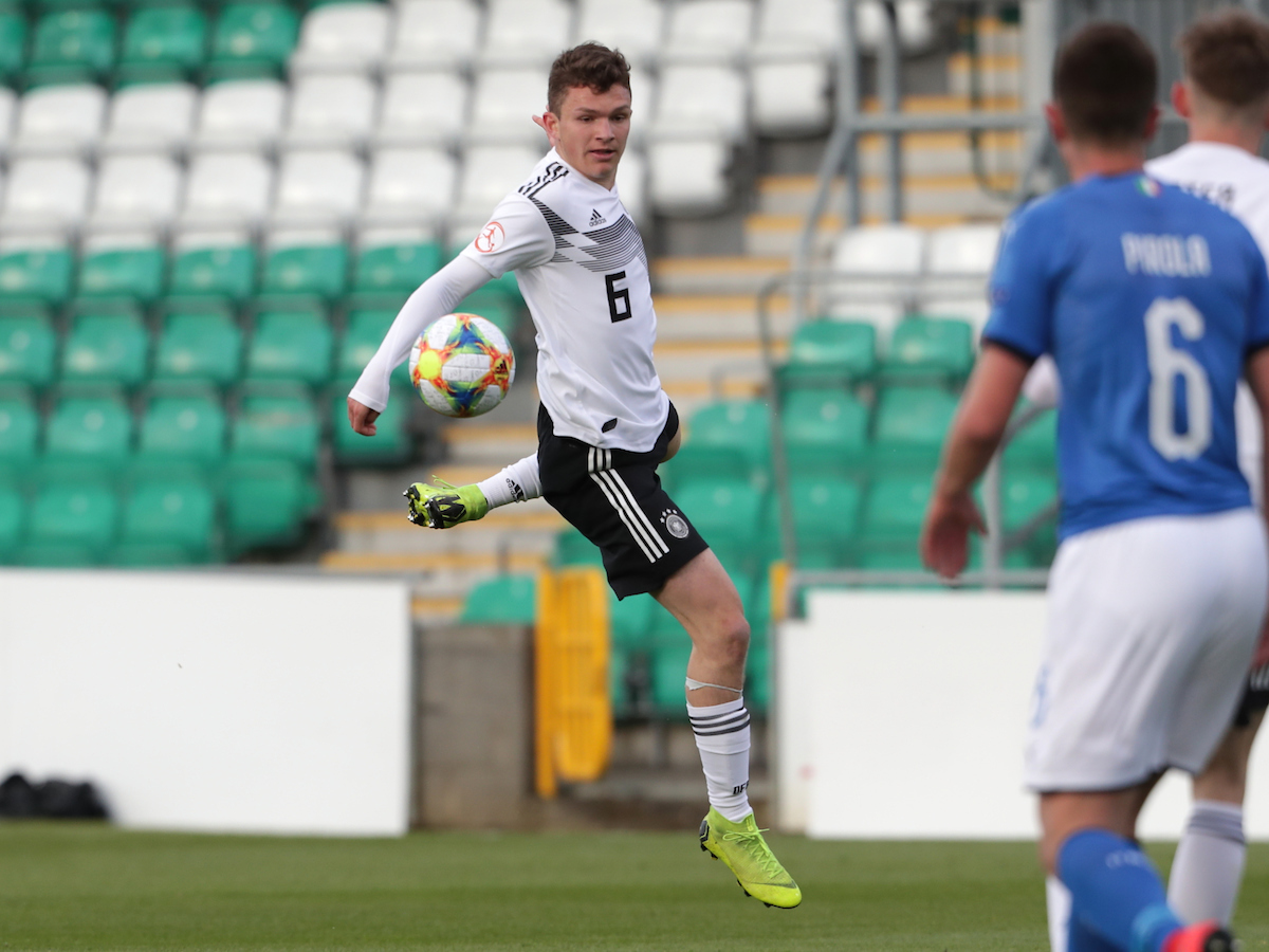 Jordan Meyer of Germany during the UEFA Euro U17 Championship match at Tallaght Stadium, Tallaght Picture by Yannis Halas/Focus Images Ltd +353 8725 82019 04/05/2019