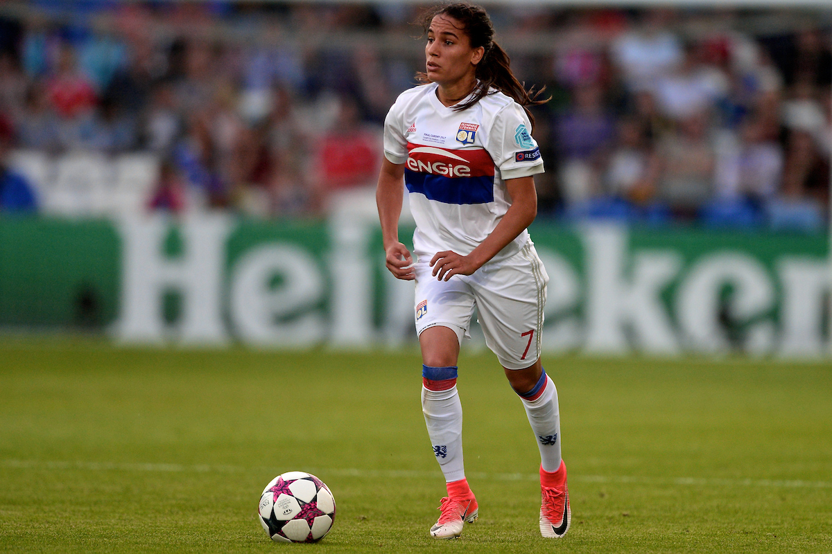 Amel Majri of Olympique Lyonnais Féminin during the UEFA Women's Champions League Final at the Cardiff City Stadium, Cardiff Picture by Kristian Kane/Focus Images Ltd +44 7814 482222 01/06/2017