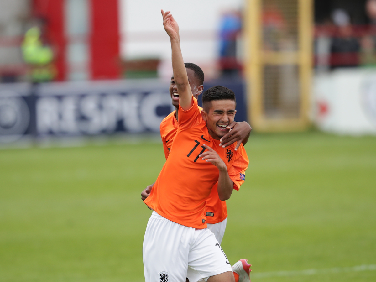 Naci Unuvar of Netherlands celebrates after scoring a goal during the UEFA Euro U17 Championship match at Tolka Park, Drumcondra Picture by Yannis Halas/Focus Images Ltd +353 8725 82019 06/05/2019