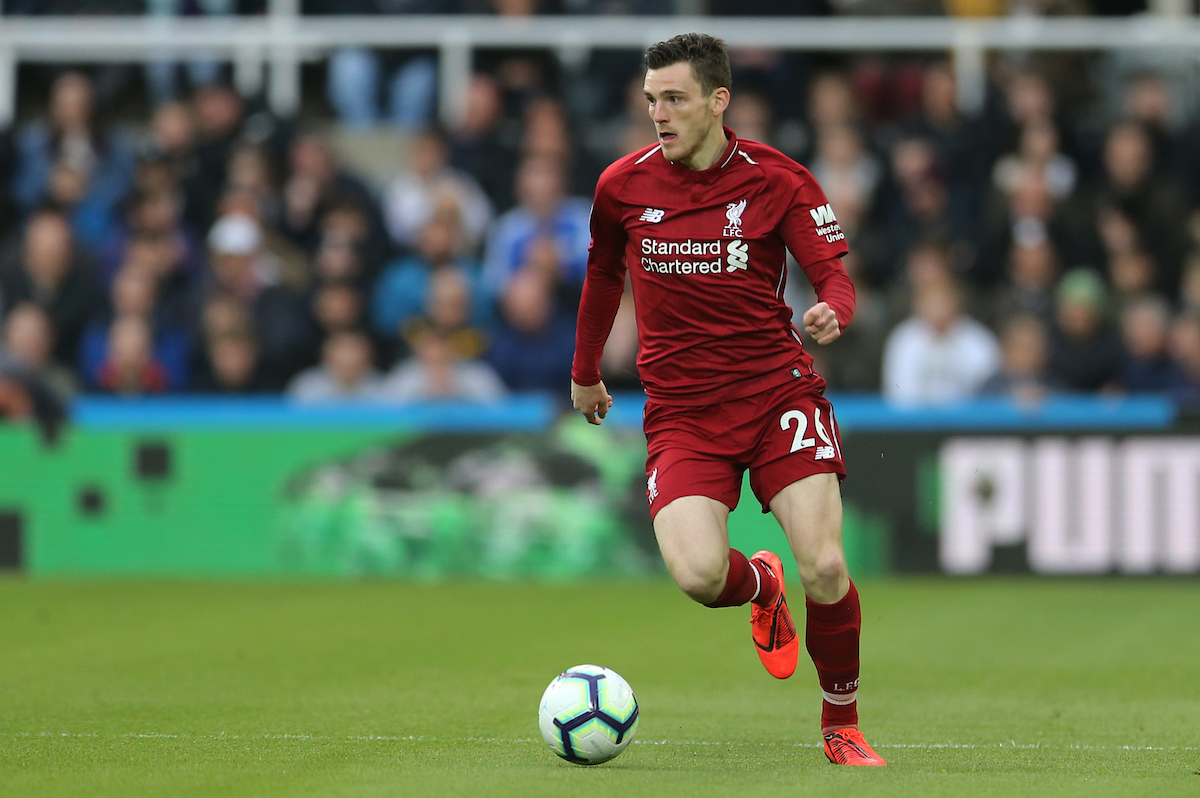 Andrew Robertson of Liverpool during the Premier League match at St. James's Park, Newcastle Picture by Simon Moore/Focus Images Ltd 07807 671782 04/05/2019