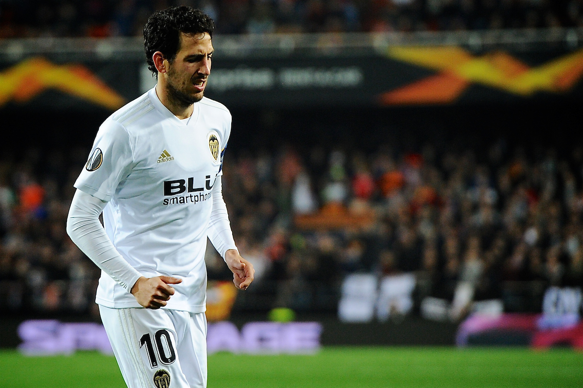 Daniel Parejo of Valencia CF during the UEFA Europa League match at Mestalla, Valencia Picture by Kristian Kane/Focus Images Ltd +44 7814 482222 19/02/2019
