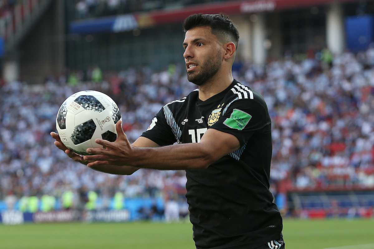 Sergio Aguero of Argentina during the 2018 FIFA World Cup match at Spartak Stadium, Moscow Picture by Paul Chesterton/Focus Images Ltd +44 7904 640267 16/06/2018