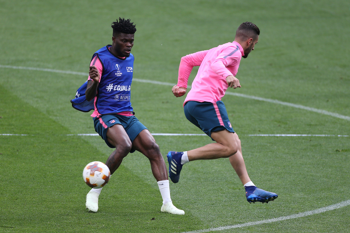 Thomas Partey of Atletico Madrid during the Atletico Madrid training session at Stade de Lyons, Lyons Picture by Paul Chesterton/Focus Images Ltd +44 7904 640267 15/05/2018