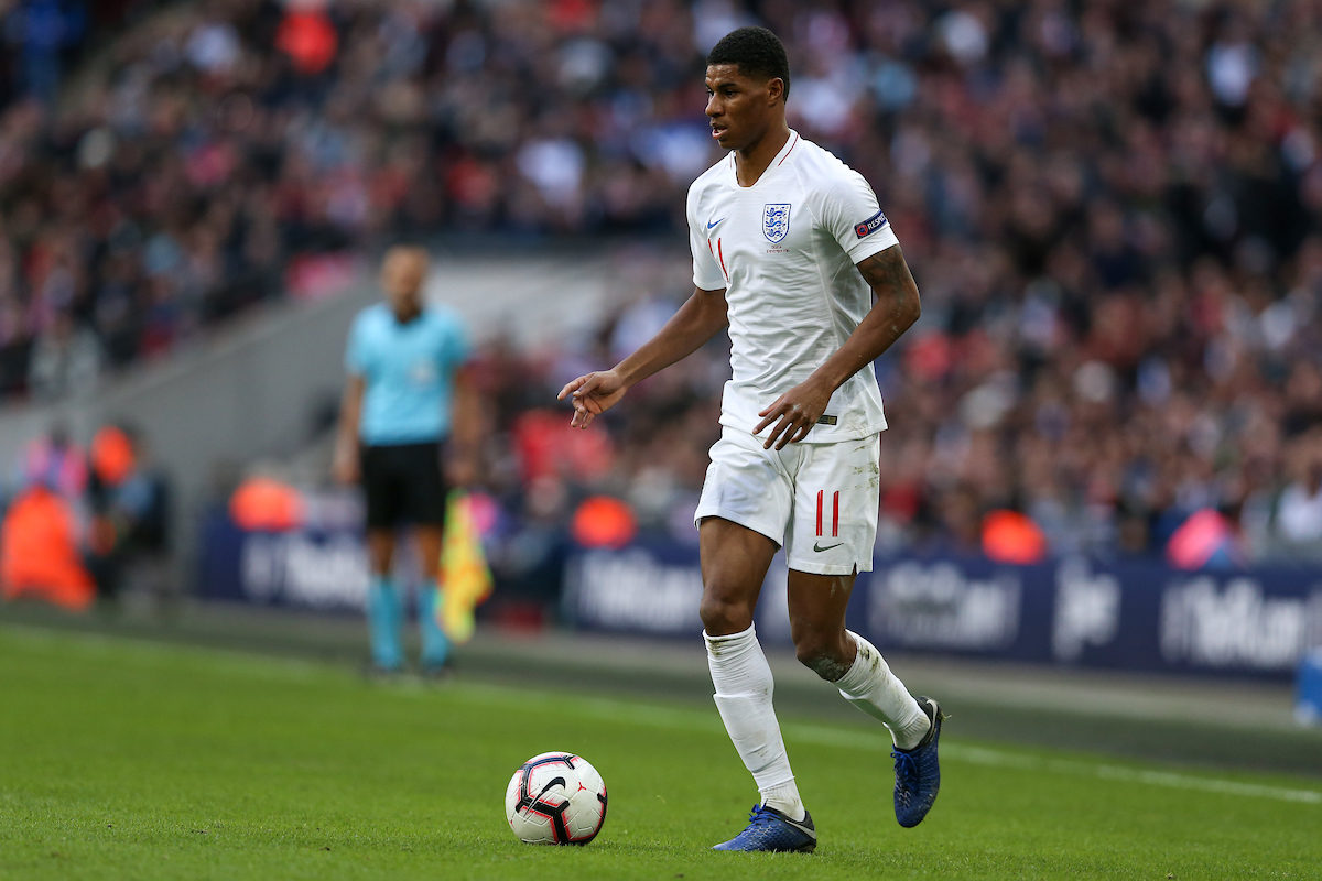 Marcus Rashford of England runs with the ball during the UEFA Nations League match at Wembley Stadium, London Picture by James Wilson/Focus Images Ltd 07522 978714‬‬ 18/11/2018